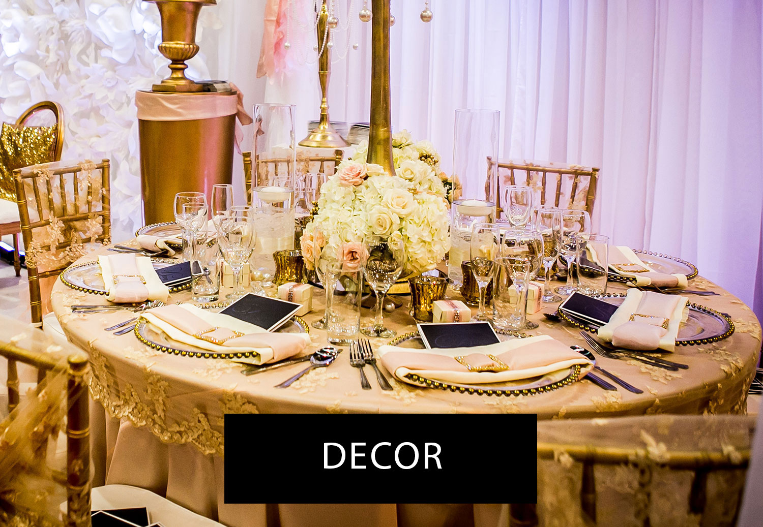 Montreal wedding lets get married marions nous gold and pink montreal table decor junglespirit Image collections